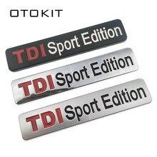 Metalen Rode TDI Sport Edition Logo Turbo Auto Brief Sticker Emblem Chrome Badge Decals voor VW POLO GOLF CC TT JETTA GTI TOUAREG