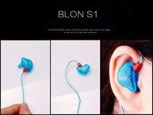 100% Original BLON S1 3.5mm dans loreille écouteur BA avec DD BOSSHiFi S1 Armature équilibrée dans loreille écouteur bricolage personnalisé Sport écouteur
