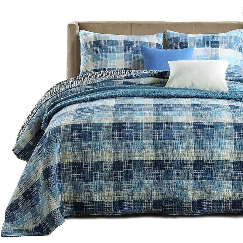 CHAUSUB منقوشة المفارش ل سرير مزدوج لحاف مجموعة 3 قطعة غطاء لينة القطن أغطية السرير المخدة الملكة حجم بطانية على السرير