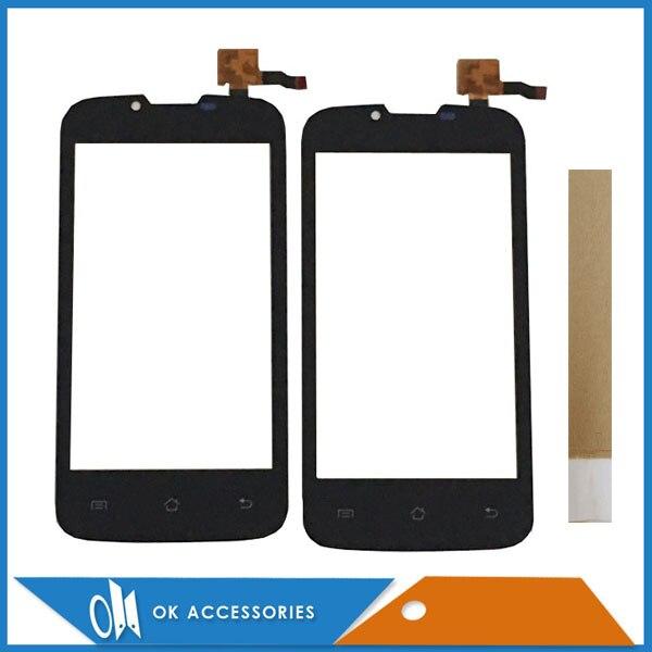 Garantía de Calidad 100% Color negro para Fly IQ4407 IQ 4407 Digitalizador de pantalla táctil con cinta adhesiva 1 pieza por lote