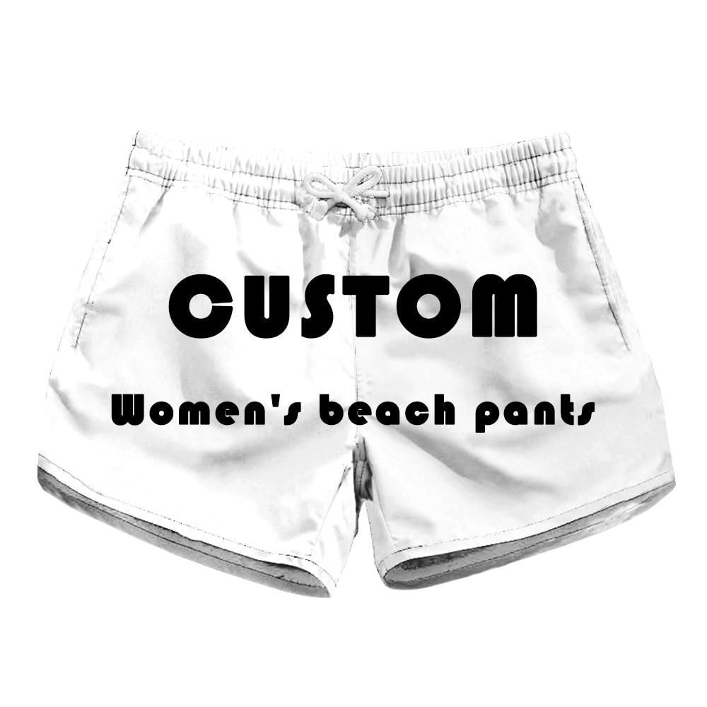 Custom  New 2019 Trendy fashion Women Shorts Summer Beach Casual Rose flower print Loose women board short