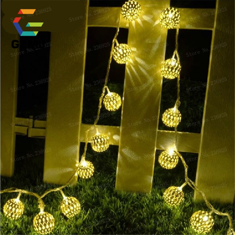 10m 100 عيد الميلاد نافذة LED أضواء الذهب الحديد LED سلسلة أضواء الستار داخلي ديكور المنزل عطلة الجنية أضواء مصابيح H-36