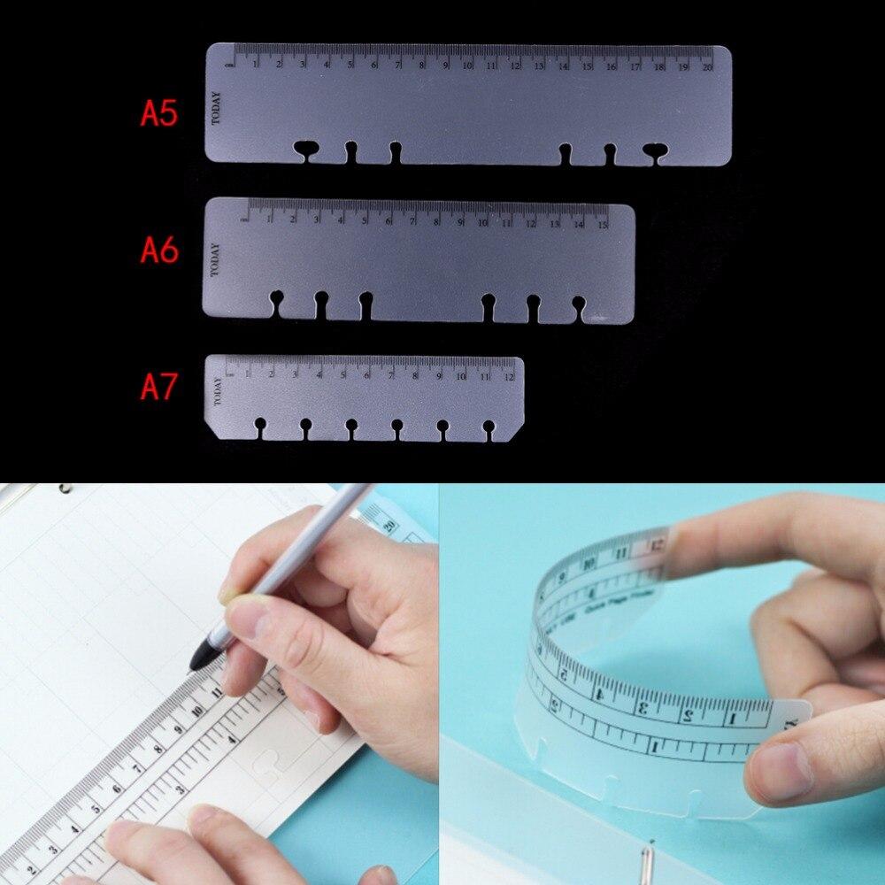 Praktyczny luźny liść zakładka A5 A6 A7 pcv Planner Agenda dla 6 otworów luźny liść spirali Notebook linijka Drop Shipping