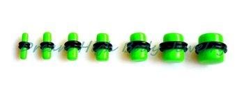 Wholesale Green  Acrylic Ear Plug Ring stretcher kit set Body Piercing Plain O Ring Flesh Tunnel Ear Expander Free Shipping