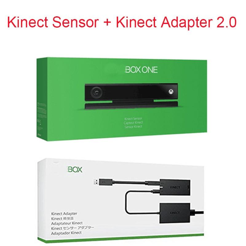 Nueva marca de Capteur Kinect para Xbox One S kinect Sensor + adaptador versión 2,0 de Kinect para Xbox OneX Slim para Windows PC