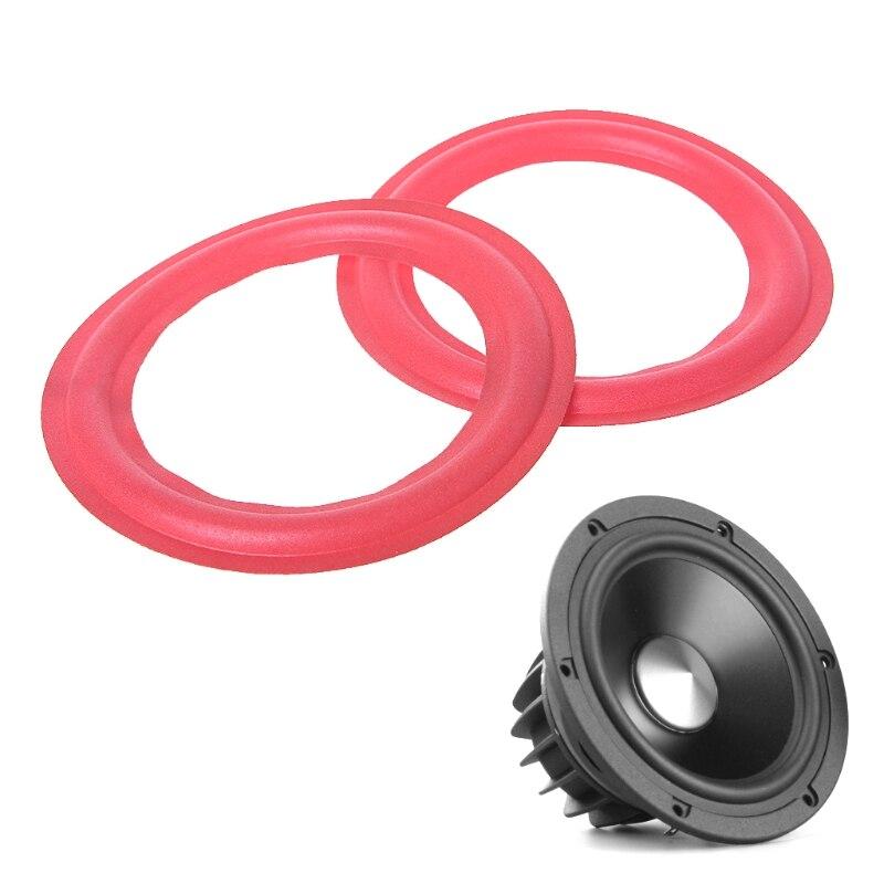 1 par de altavoces Subwoofer de 4/5/6. 5/8/10/12 pulgadas altavoces Woofer de espuma envolvente Accesorios de reparación rojo