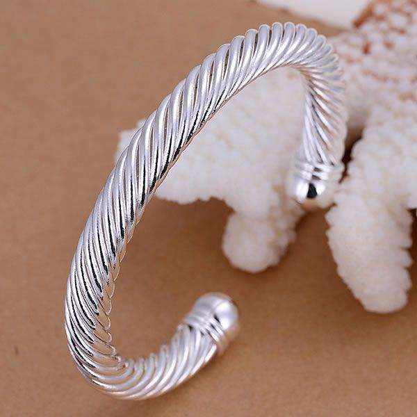 B030  free shipping sterling  bangle bracelet,   fashion jewelry Twisted Bangle /afiaiwpa aikaizra silver color