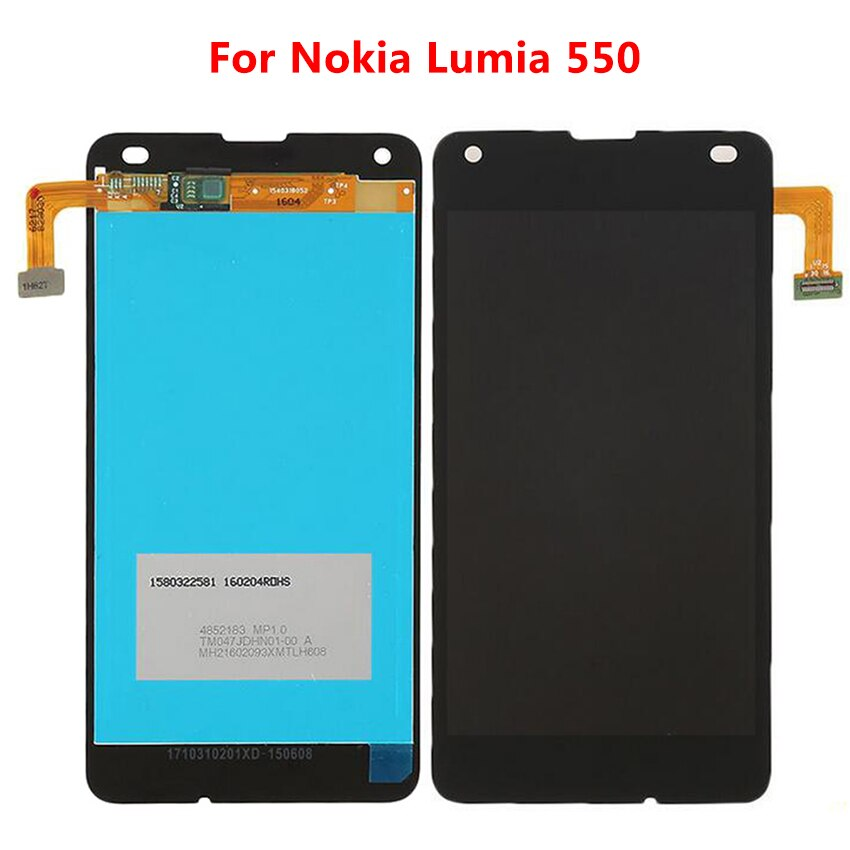Para Nokia Lumia 550 RM-1127 pantalla LCD MONTAJE DE digitalizador con pantalla táctil con piezas de repuesto de Marco