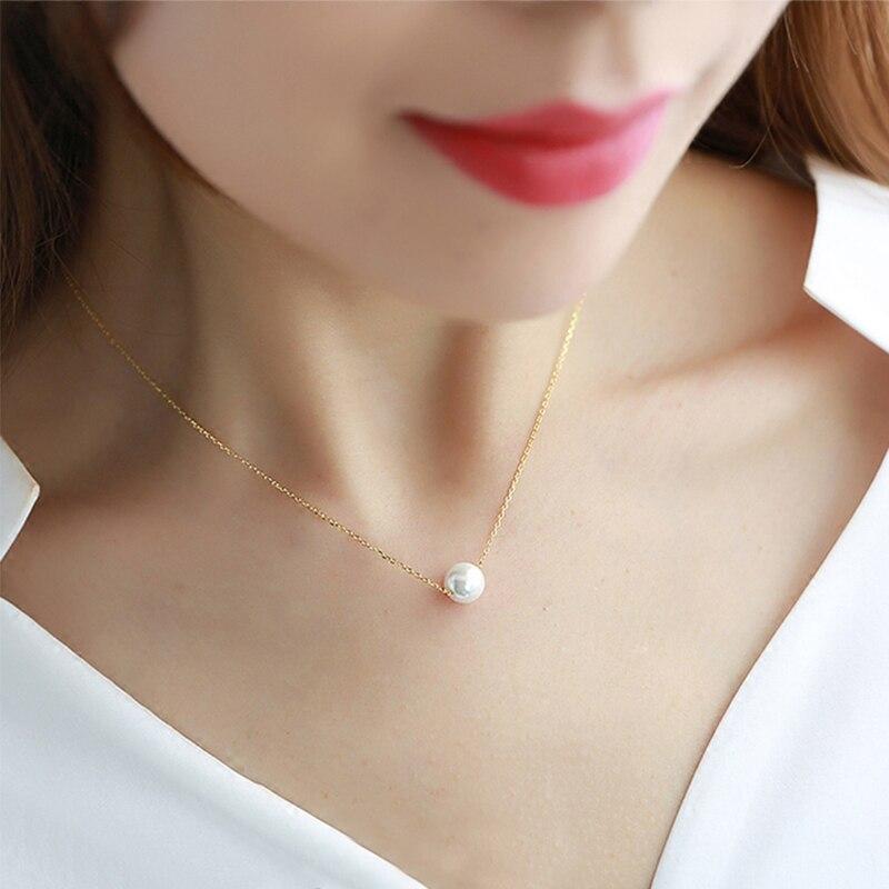 Verkauf Schlüsselbein Graceful Anhänger Halskette Für Frauen Mädchen Romantische Hohe Qualität Imitation Perle Halskette Mode Schmuck