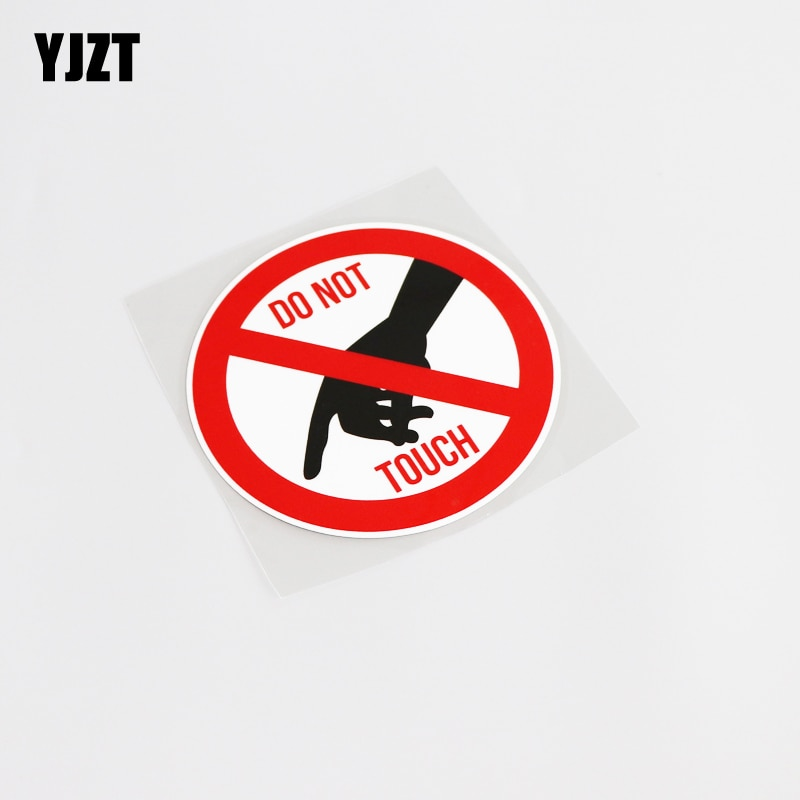 YJZT, 11,1 CM * 11,1 CM, pegatina interesante no táctil, pegatina de alta calidad de PVC para coche, Graphical13-0186