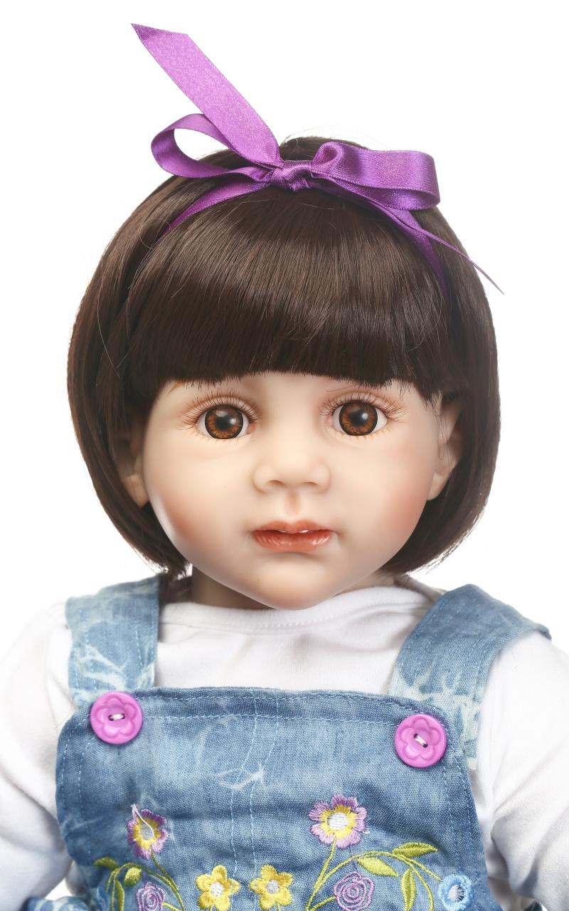 60cm bebés Reborn Girl muñecas de silicona bebé Reborn realista recién nacido princesa muñecas con falda de mezclilla de moda
