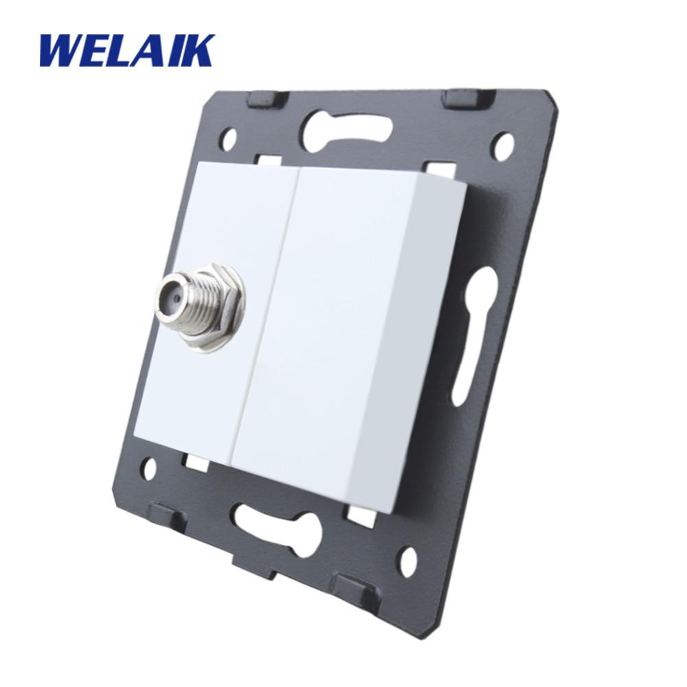 WELAIK, стандарт ЕС, спутниковая розетка, сделай сам, детали-настенная спутниковая розетка, детали-без стеклянной панели, A8SAW/B