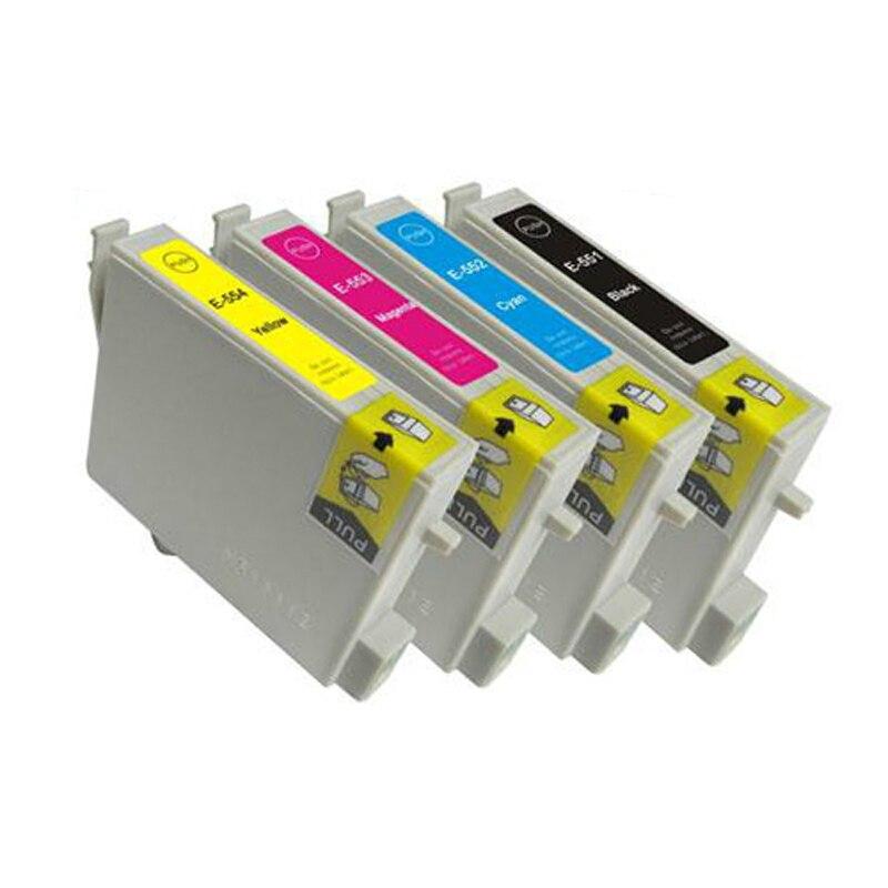 Vilaxh T0551 T0552 T0553 T0554 чернильный картридж для принтера Epson Stylus RX420 RX425 RX520 R240 R245