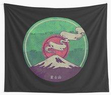 Mt. Fuji Wall Tapestry Cover Beach Towel Throw Blanket Picnic Yoga Mat Home Decoration