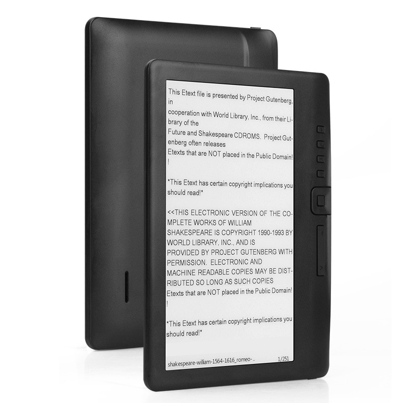 8GB Ebook Reader Smart with 7 Inch HD Color Screen Digital E-Book+Video+MP3 Music Player ELECTSHONG