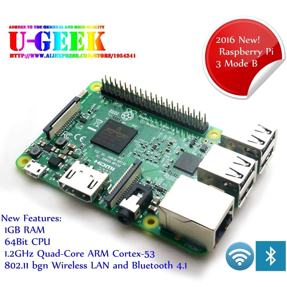 Element14 Raspberry Pi 3 Model B 1GB RAM Quad Core 1.2GHz 64 bit CPU with WiFi & Bluetooth Raspberry Pi 3B 64bit BCM2837
