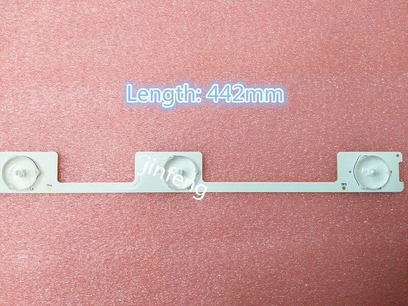 90 أجزاء/وحدة الأصلي جديد LED الخلفية بار قطاع ل كونكا KDL48JT618A 35018539 6 المصابيح (6V) 442 مللي متر