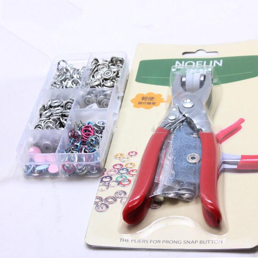 100 + herramienta de fijación bebé traje de botón conjunto de costura DIY Ropa Accesorios de hardware mulit color
