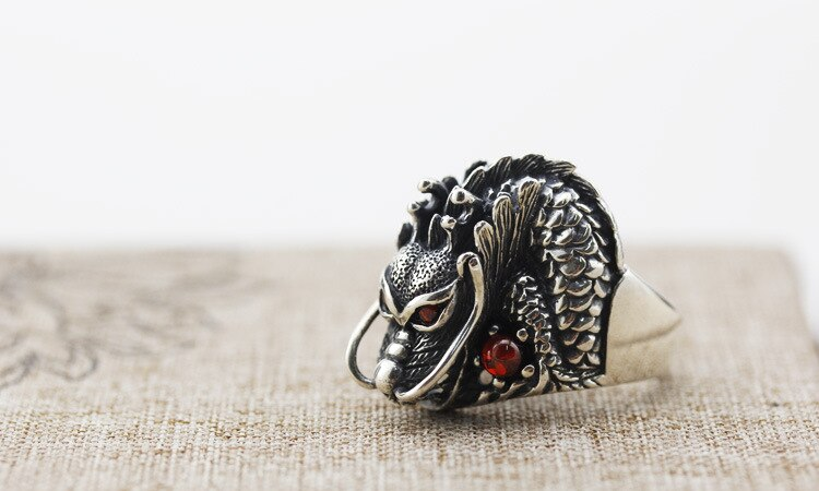 Nuevo Anillo de plata esterlina 925 grifo de anillo de plata