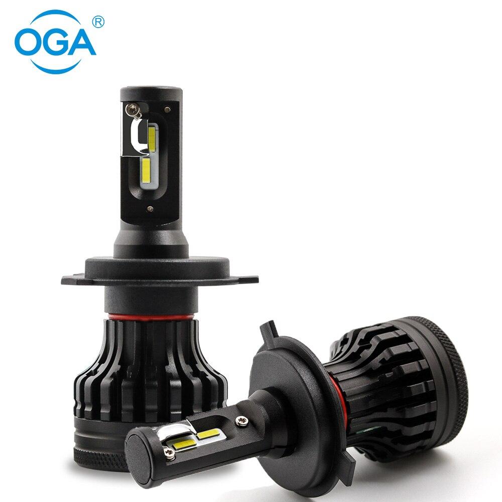 OGA 2 piezas HB2 H4 LED 9003 alta baja y haz Led faro bombilla LED Auto faro 24 V Led lámpara blanco puro de alta potencia de 12 V 6500 K