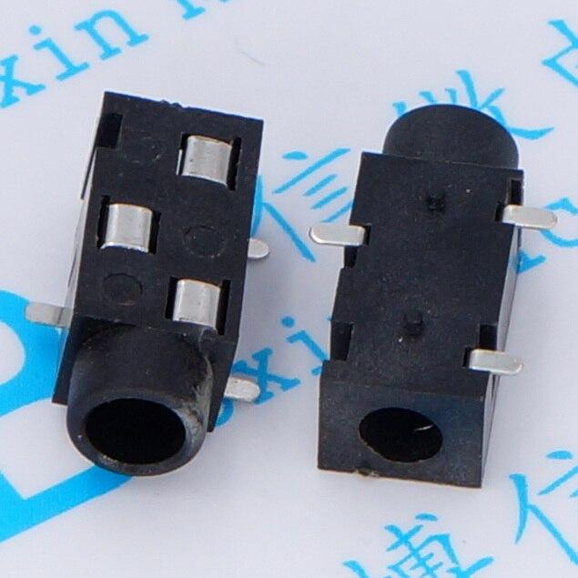200 Uds trípode de plata parche PJ-320B 3,5 headphone jack 3,5 PJ-320B Conector mono