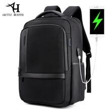 Arctique HUNTER 15.6 pouces étanche USB ordinateur portable professionnel hommes sac à dos décontracté cahier mâle sport voyage sac pack pour hommes