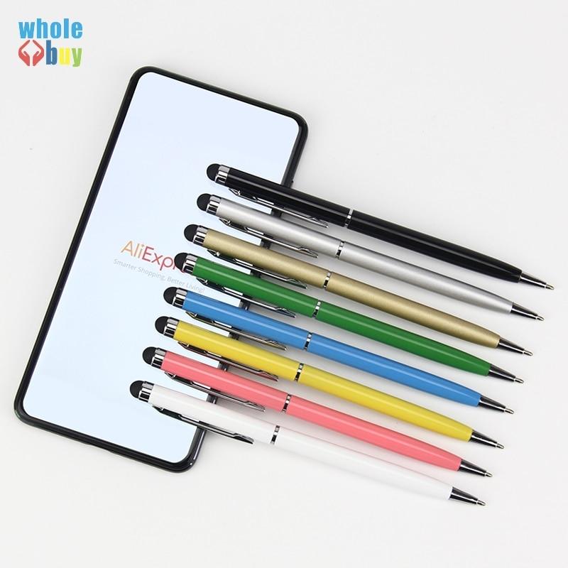 500 قطعة/الوحدة عالية الجودة 2 في 1 الكرة نقطة القلم قلم اللمس لباد آيفون فون 6 5 للالهاتف المحمول اللوحي