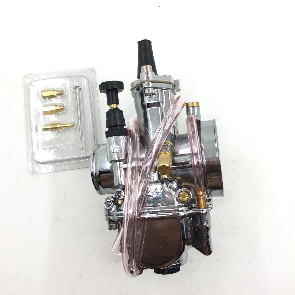 Masterryberg carburador 24pwk pwk24 24mm pwk, para jog rtl250 cr80 cr125 cromado dirt bike honda keihin