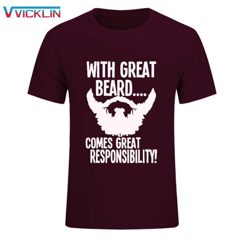 Camiseta de algodón de manga corta Hip-Hop con gran Barba, gran responsabilidad para hombre, camiseta divertida de marca Drake, ropa de talla grande
