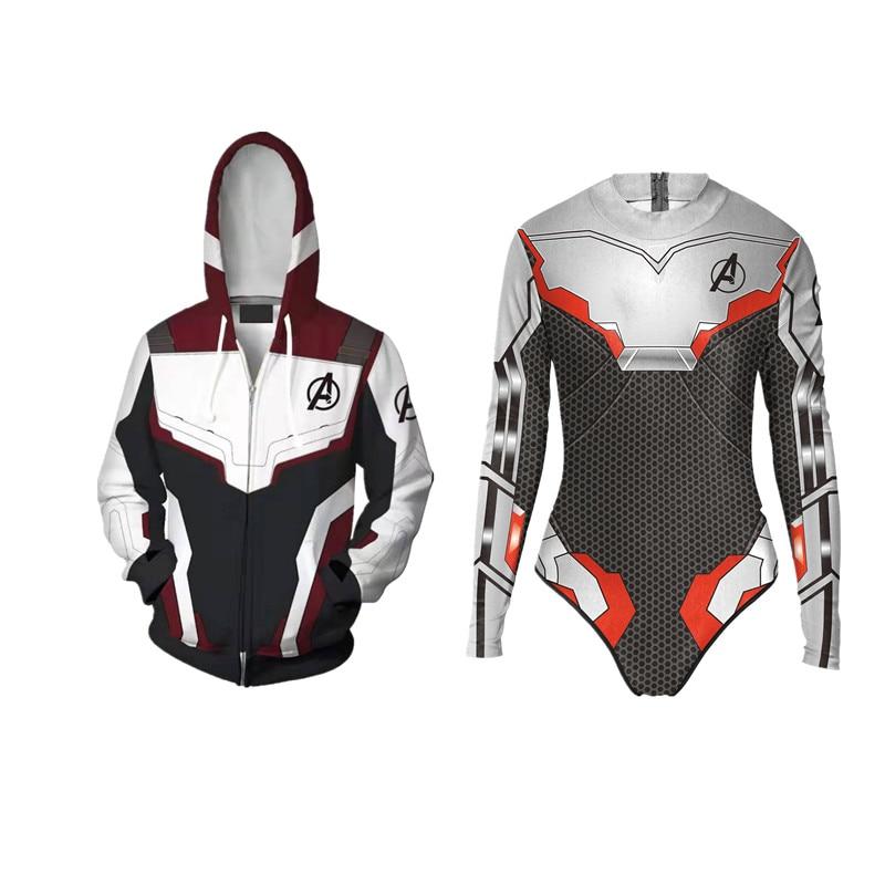 Avengers Endgame Quantum Long Sleeve One-Piece Hoodie Home Sweater Avengers 4 Endgame Quantum Clothing Leisure Sports Suit