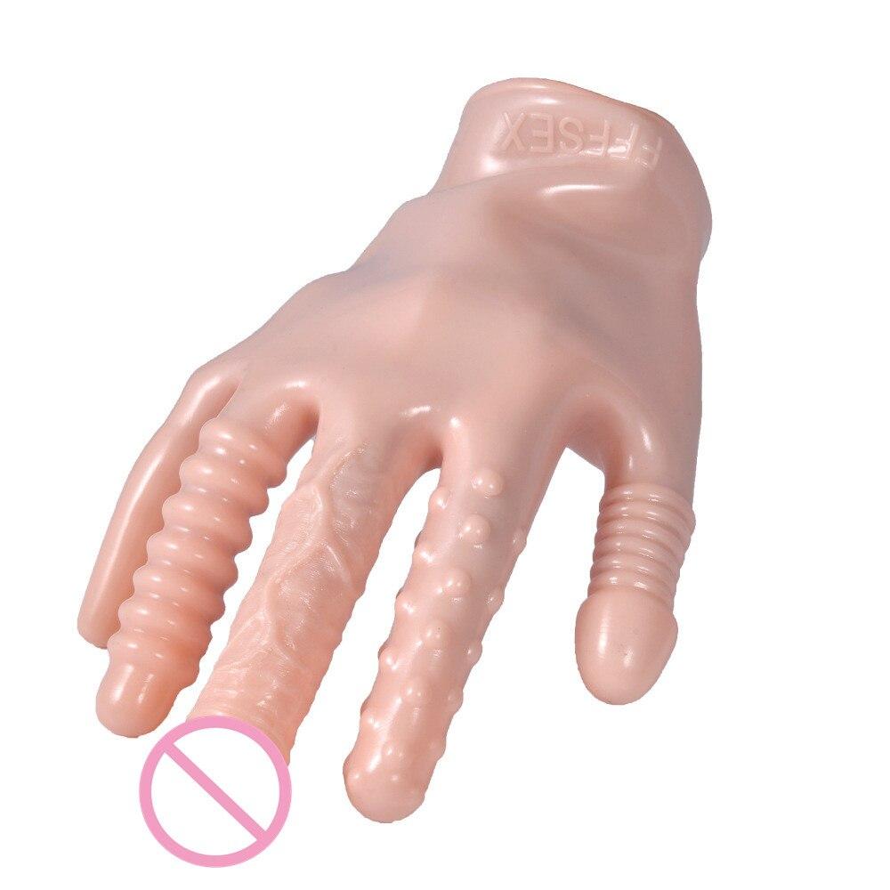 Новейший! 5 видов стилей, волшебные перчатки, фаллоимитатор с вибратором, пары, флирт, анальный секс-игрушка/пробка для лесбиянок для взрослы...