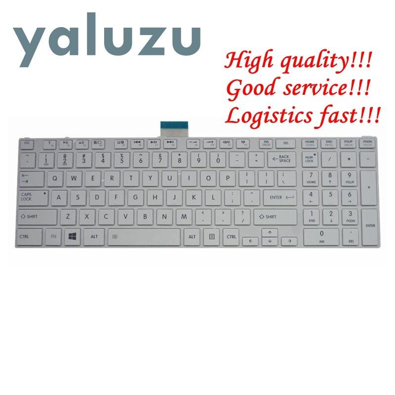 YALUZU nuevo teclado de EE.UU. para toshiba SATELLITE L850D P850 L855 L855D L870 L870D C850 C855 C855D nos teclado de computadora portátil blanco NSK-TVBSU