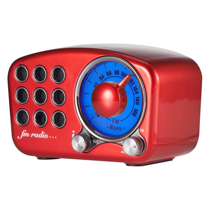 Redamigo digital fm rádio fm bluetooth alto-falante mini linternet rádio fm portátil tf cartão falante radr919