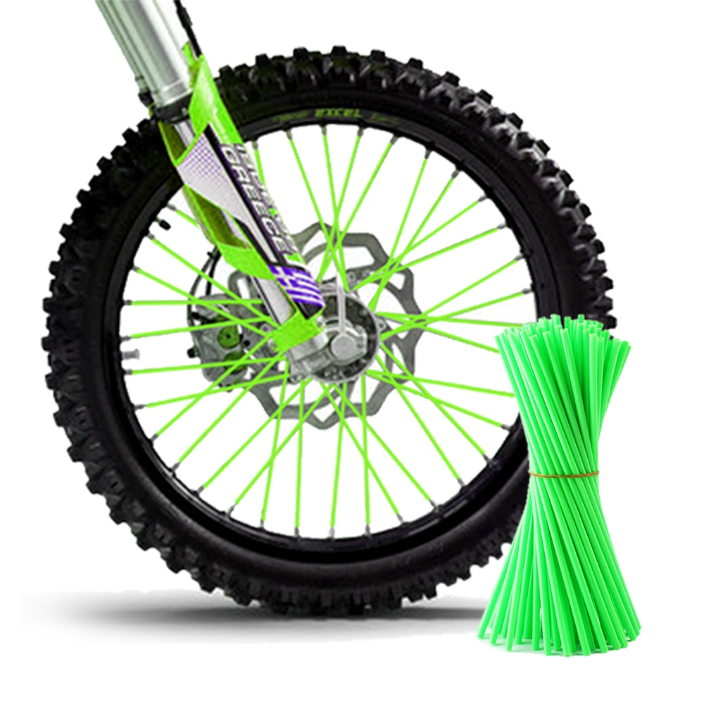 72 stücke Universelle Dirt Bike Enduro Off Road Motorrad Felge Sprach Wanten Skins Abdeckung für KTM Honda Yamaha Aprilia kawasaki