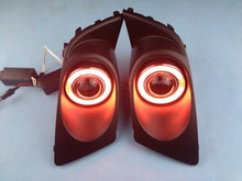 Lentille de projecteur antibrouillard halogène   Nouvelle innovation CCFL Angel Eye feu de jour + lentille de projecteur pour héritage 2007-09, 2 pièces