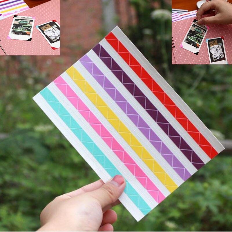 1 hoja = 102 Uds. Instax Mini Material hecho a mano, etiqueta de decoración del álbum Retro, foto de esquina de Pvc