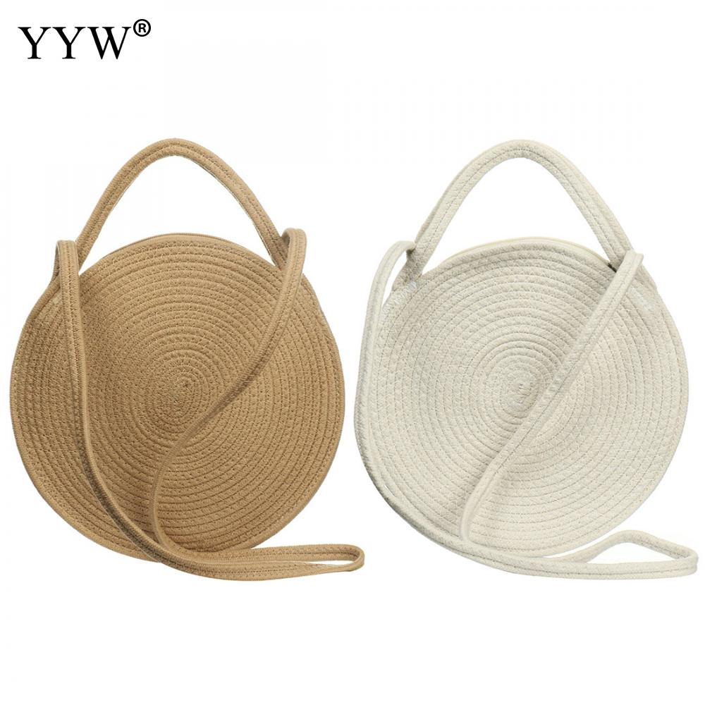 Verano bohemio bandolera mujer Vintage Bolsa de paja de playa señoras hecho a mano tejido bolso de ratán bolso 2019 Bolsa Feminina