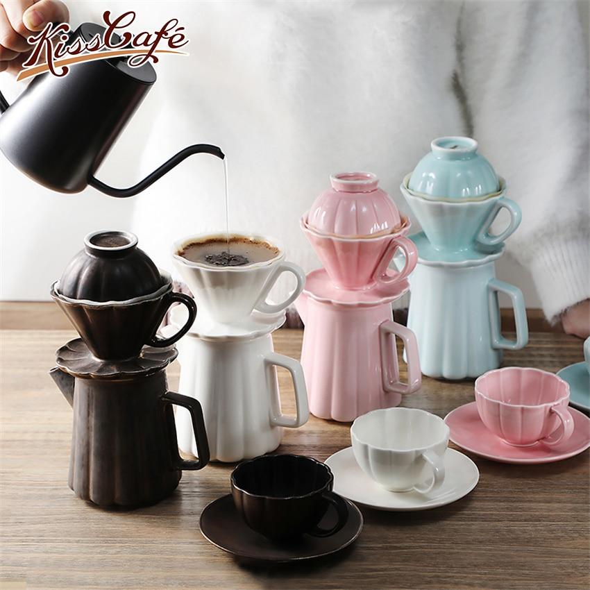 Pétalo gotero de cerámica taza de café de V60 café Café Brewer/Rosa/verde/amarillo café filtros de café