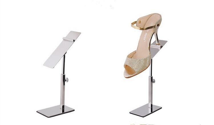 5 uds. De acero inoxidable, estante para zapatos, sandalias, expositor, soporte para zapatos, tienda de ropa, tacos altos, estante de exhibición de zapatos en tienda