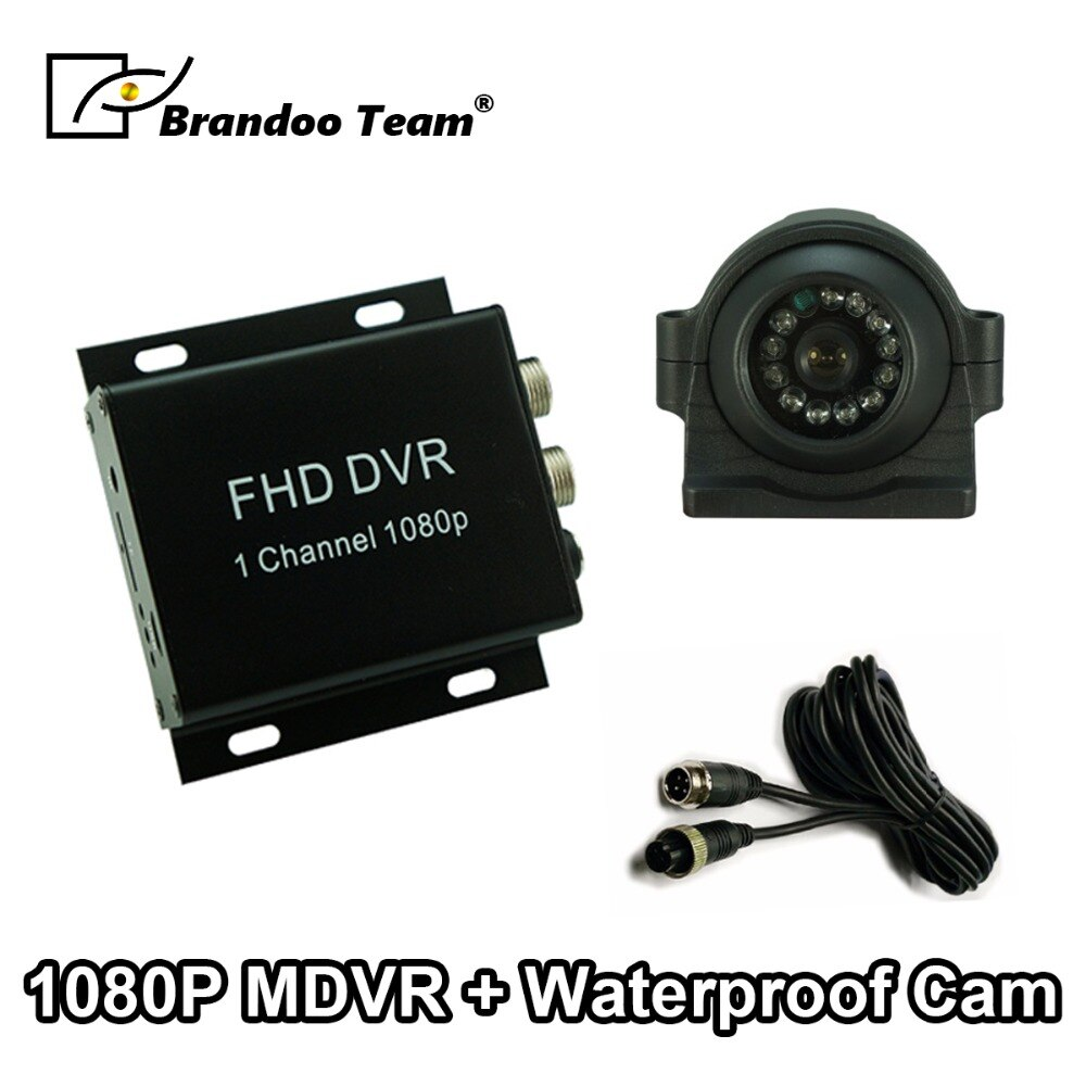 1CH SD MDVR Kit Max 128GB TF tarjeta 1080P coche móvil DVR Kit incluyendo el 2.0MP AHD coche Cámara impermeable