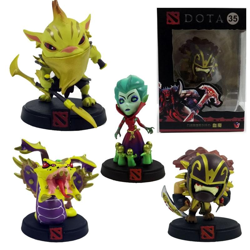 Nuevo 4pce/set DOTA 2 Juego cazador de recompensas la muerte Prothet ¡Venomancer Bloodseeker acción y figuras de juguete modelo de muñeca de colección
