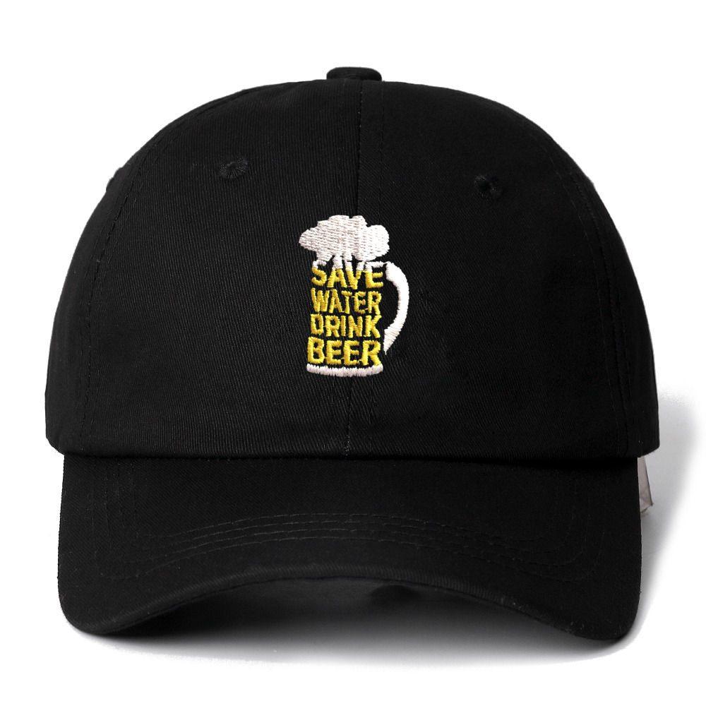 Sparen Water Drink Bier Snapback Cap Katoen Baseball Cap Voor Mannen Vrouwen Verstelbare Hiphop Vader Hoed Bone Garros Dropshipping