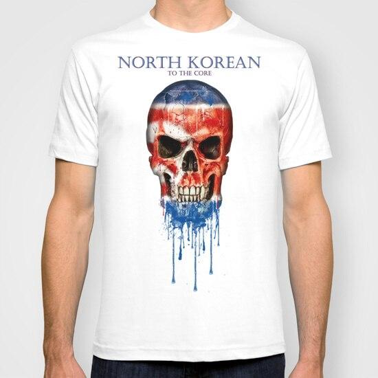 A Coreia Do norte de Nova Moda Homem T-Shirt de Algodão O Pescoço Dos Homens de Manga Curta Mens Camiseta Masculina Tops Tees Atacado