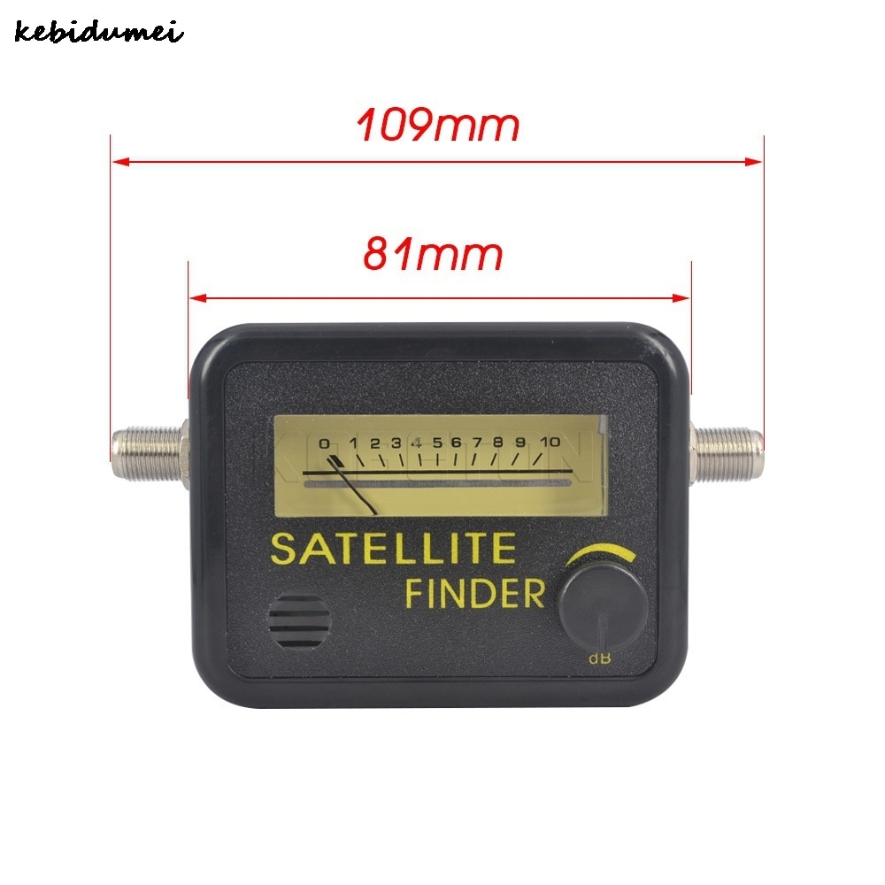Kebidumei Digital Satellite Finder Meter FTA LNB DIRECTV Signal Pointer SATV Satellite TV Receiver Tool for SatLink Sat Dish