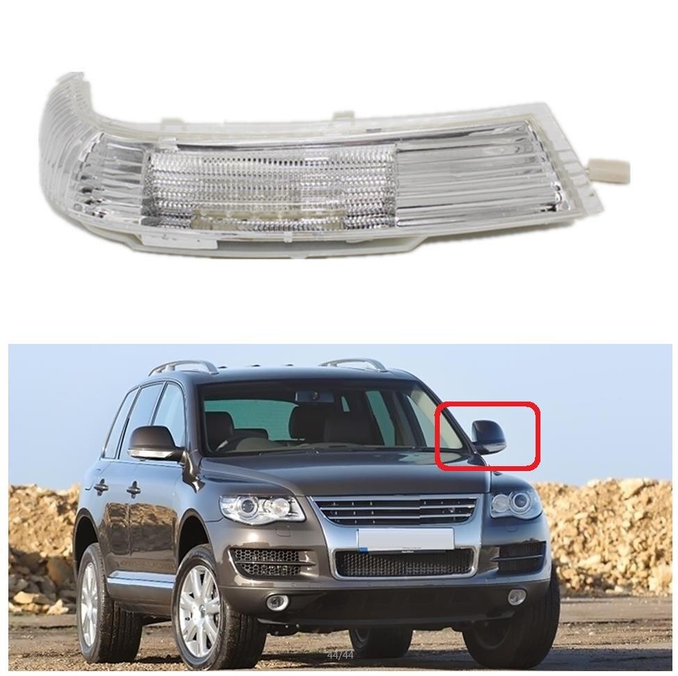 Фонарь с левой стороны для VW Touareg, 2002, 2003, 2004, 2005, 2006, Автомобильное зеркало заднего вида, светодиодный указатель поворота, светильник