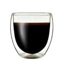Bodum Design Doppel Deck Kaffee Tasse Led-spitzbogen Anti Verbrühen Milch Saft Heißer Tassen Wärme Wider Borosilikat Wein Glas Tazas Para cafe