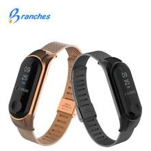 NEW Mi band 3 strap bracelet for Xiaomi mi band 3 Metal Strap wrist strap Screwless Stainless Steel Bracelet Wristbands MiBand 3