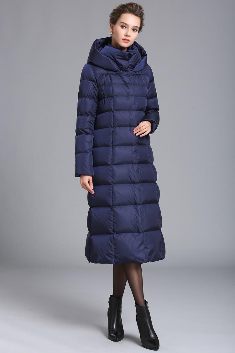 Femmes hiver épais grande taille longue bouffante doudoune fermeture éclair capuche surdimensionné manteau femme noir argent marine 4XL 7XL grande veste