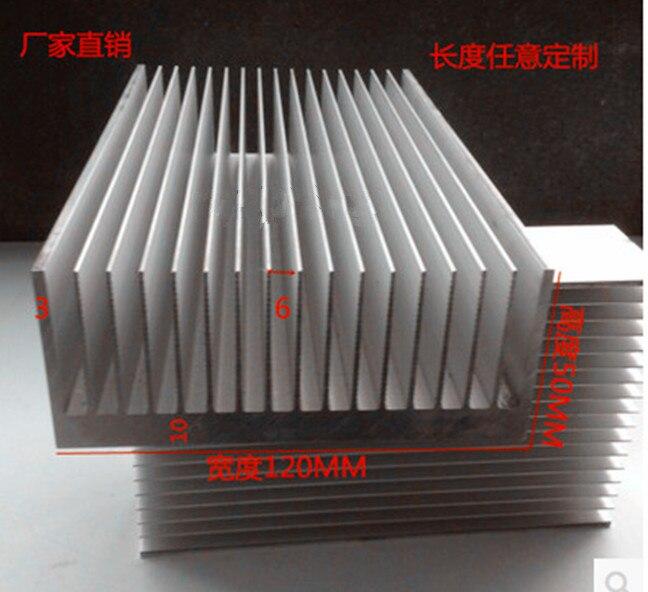 Radiador de 120x50x100mm con envío gratis, disipador térmico para LED de ancho 120, alto 50, Largo 100, cualquier pedido personalizado, radiador de aluminio procesado