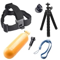for Xiaomi for Yi Accessories Octopus Tripod Head Strap Floaty Bobber Monopod For Gopro Hero 5 4 3  for SJCAM Action Camera